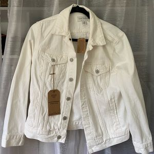 Lucky Brand White Jean Jacket